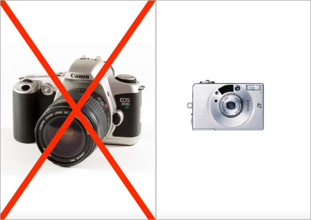 Tschüss Canon EOS 500. Hello Canon IXUS APS
