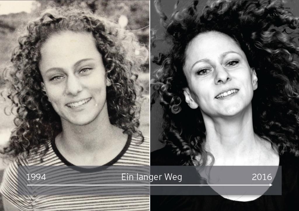 Links: Erstsemesterstudentin. Rechts: Nach fast 20 Jahren Berufserfahrung