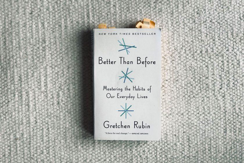 """Buchcover Gretchen Rubin """"better than before"""""""