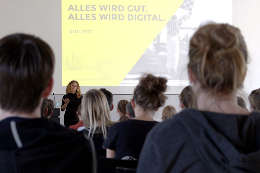 Vortrag an der Hochschule für Gestaltung Schwäbisch Gmünd: »Alles wird gut. Alles wird digital.«