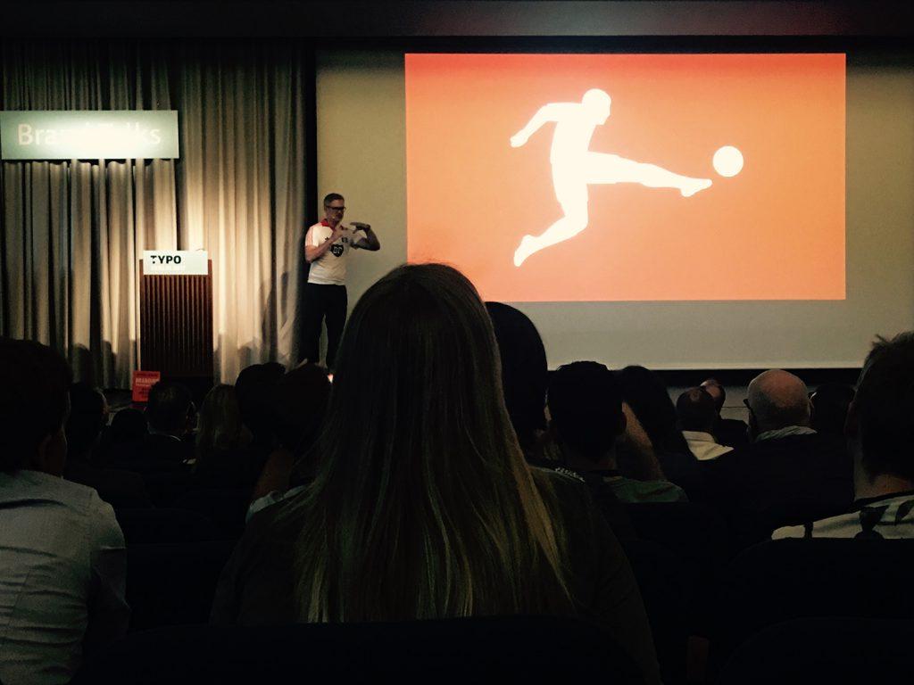Vortrag über das Branding der Bundesliga auf der Brand Talks Typo