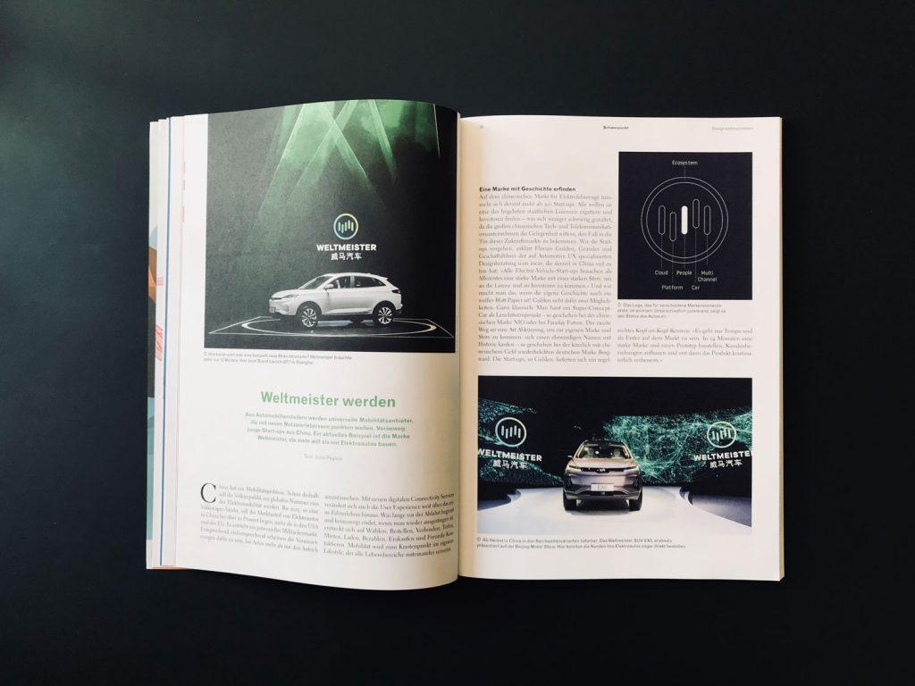 Doppelseite designreport-Artikel