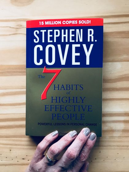 Frank Covey's book cover »7 habits for highly effective people«