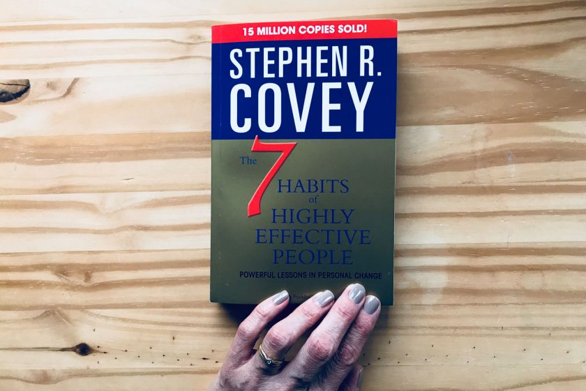 Stephen Covey's Book title 7 habits