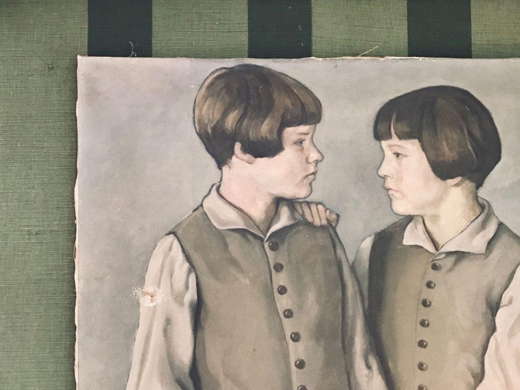 Die Zwillinge, ein Gemälde im Haus Hirt